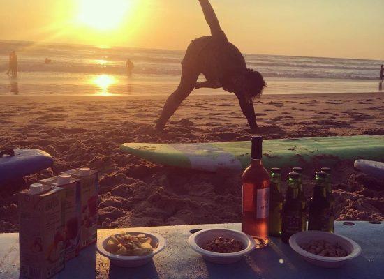 Apéro après séance de surf