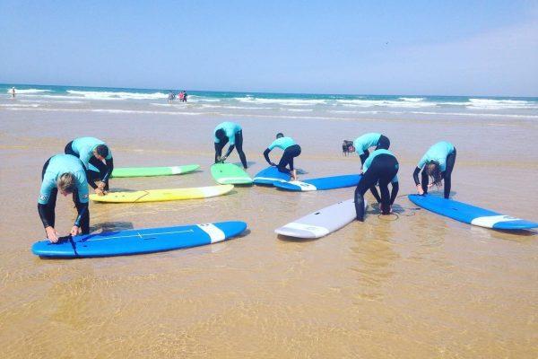 Préparation cours de surf